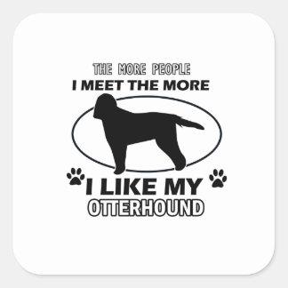 カワウソ猟犬のデザインおよびギフト スクエアシール