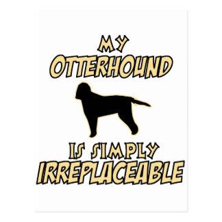 カワウソ猟犬犬のデザイン ポストカード