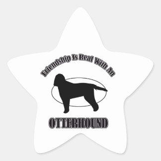 カワウソ猟犬犬のデザイン 星シール