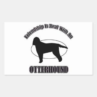 カワウソ猟犬犬のデザイン 長方形シール