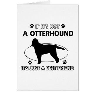 カワウソ猟犬犬の品種デザイン カード