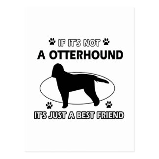 カワウソ猟犬犬の品種デザイン ポストカード