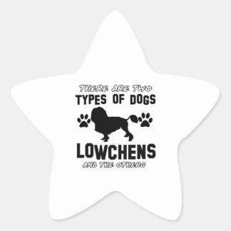 カワウソ猟犬犬の品種デザイン 星シール