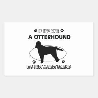 カワウソ猟犬犬の品種デザイン 長方形シール