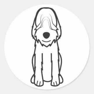 カワウソ猟犬犬の漫画 ラウンドシール