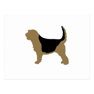 カワウソ猟犬色のシルエット ポストカード