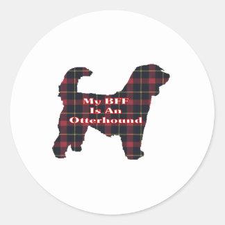 カワウソ猟犬BFFのステッカー ラウンドシール