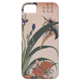 カワセミ、カーネーション、Katsushika Hokusai著アイリス iPhone 5 ベアリーゼアケース
