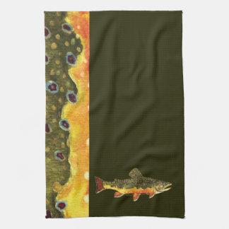 カワマスの魚の絵画 キッチンタオル