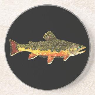 カワマスの魚の絵画 コースター