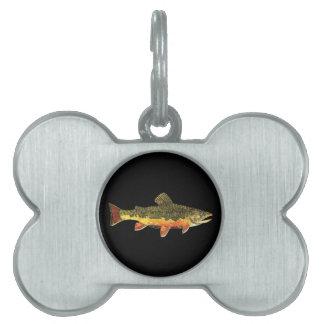 カワマスの魚の絵画 ペットネームタグ