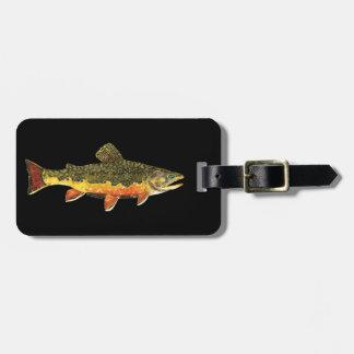 カワマスの魚の絵画 ラゲッジタグ