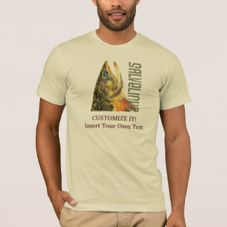 カワマスの魚釣り、魚類学 Tシャツ