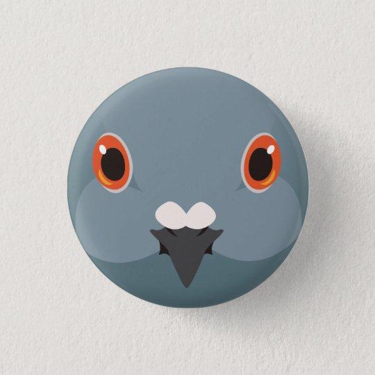 カワラバト-Rock dove 3.2cm 丸型バッジ