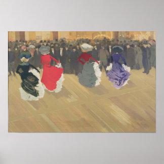 カンカンを踊っている女性 ポスター