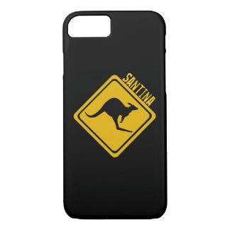 カンガルーの交通標識 iPhone 7ケース