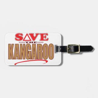 カンガルーの保存 ラゲッジタグ