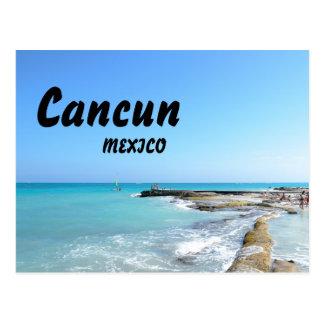 カンクンメキシコのビーチリゾートのゆとりの海水 ポストカード