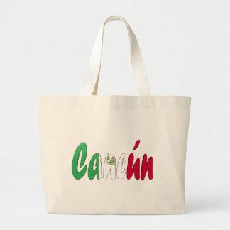 カンクン、メキシコ ラージトートバッグ