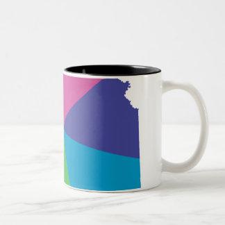 カンザスのプライド。 斜め ツートーンマグカップ