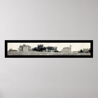 カンザスの写真1913年の大学 ポスター