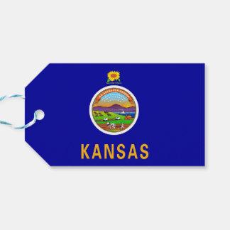 カンザスの国家、米国の旗が付いているギフトのラベル ギフトタグ