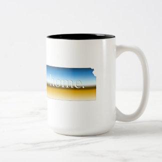 カンザスの家の地平線 ツートーンマグカップ