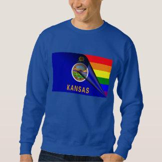 カンザスの旗のゲイプライドの虹 スウェットシャツ