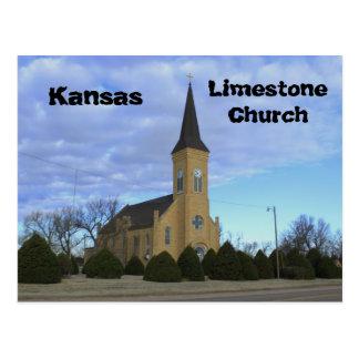カンザスの石灰岩教会郵便はがき ポストカード