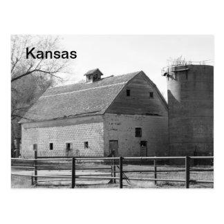 カンザスの納屋およびサイロ ポストカード