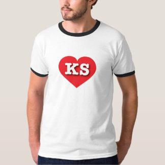 カンザスの赤いハート-大きい愛 Tシャツ