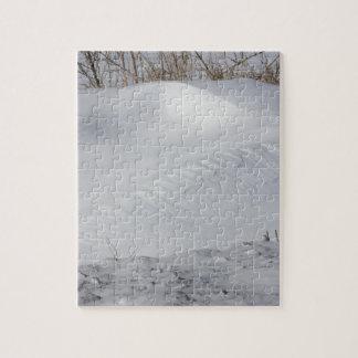 カンザスの雪銀行パズル ジグソーパズル