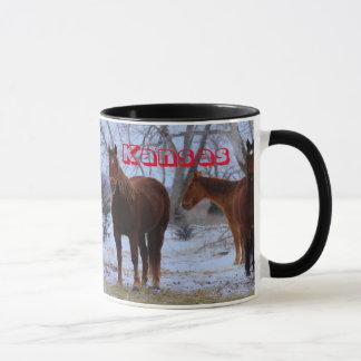 カンザスの馬のマグ マグカップ