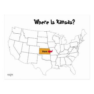 カンザスはどこにありますか。 ポストカード