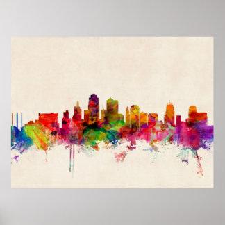 カンザスシティのスカイラインの都市景観 ポスター