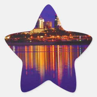 カンザスシティのスカイライン 星シール