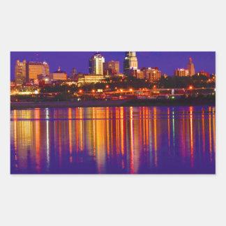 カンザスシティのスカイライン 長方形シール