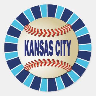 カンザスシティのレトロの野球 ラウンドシール