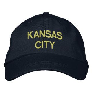 カンザスシティの帽子 刺繍入りキャップ
