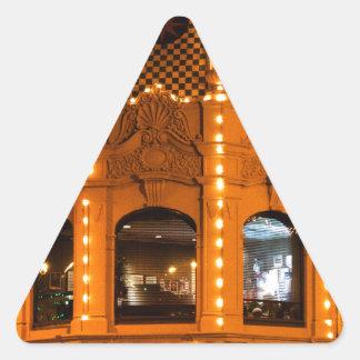 カンザスシティの広場ライト! 三角形シール