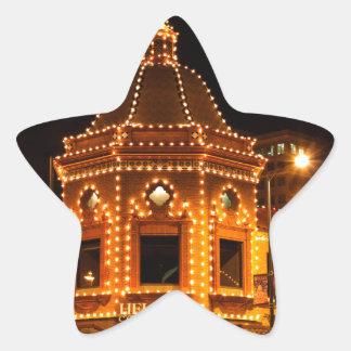 カンザスシティの広場ライト 星シール