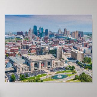 カンザスシティの美しいスカイライン ポスター