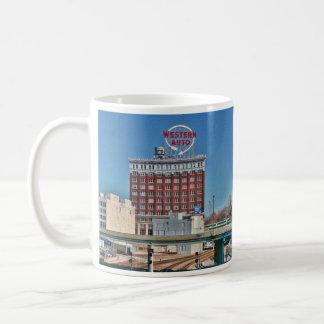 カンザスシティの西部の自動印 コーヒーマグカップ