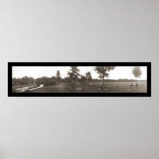カンザスシティの野球の写真1909年 ポスター