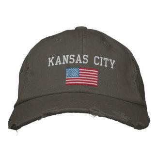 カンザスシティの野球帽 刺繍入りキャップ