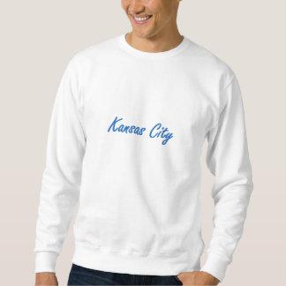 カンザスシティの青および灰色 スウェットシャツ