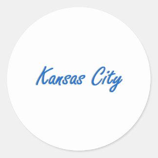 カンザスシティの青および灰色 ラウンドシール
