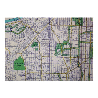 カンザスシティのMOのヴィンテージの地図ポスター ポスター