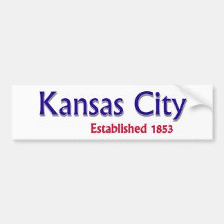 カンザスシティは車のバンパーステッカーを確立しました バンパーステッカー