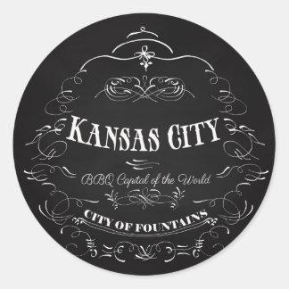 カンザスシティミズーリ-世界のBBQの首都 ラウンドシール